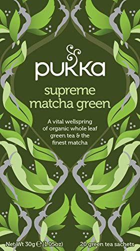 Pukka Supreme Matcha Green, Organic Herbal Green Tea with Oothu, Sencha & Suio Gang (4 Pack, 80 Tea bags)