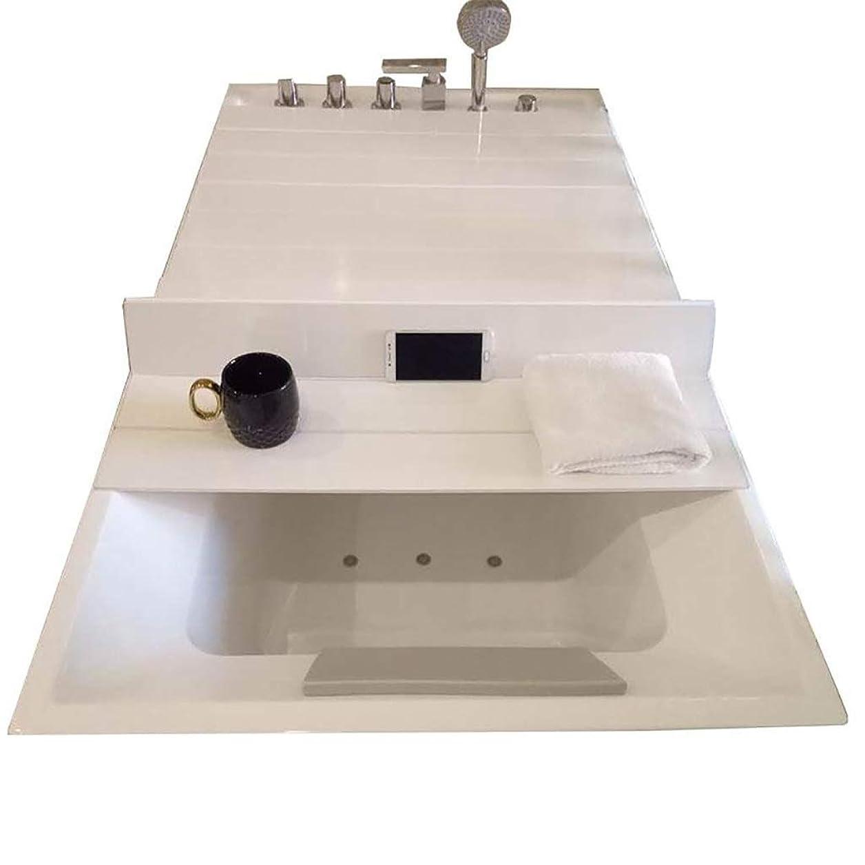プロットファイアル栄養XL&JUN バスタブはアンチダスト折りたたみダストボードバスタブ絶縁カバーPVC白をカバー キッチン (Color : 135*75*0.7cm)