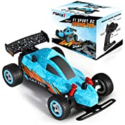 Force1 Mini F1 Sport RC Car for Kids - Fast Remote Control Car for Boys and Girls, High Speed Mini RC Toy Car with All Terrain Rubber Tires, 2.4GHz Remote Control, 1 Rechargeable Battery and USB, Blue