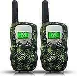 cff Funkgerät Kinder Walkie Talkie, Armee Walkie-Talkie Spielzeuge mit LCD, UHF 446MHz 8 Kanal (Batterie Nicht im Lieferumfang Enthalten Tarnung 2 Stück)