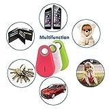 GBD 3pcs Smart Finder Bluetooth Locator Pet Tracker Alarm Wireless Anti-lost Sensor Remote Selfie Shutter Seeker for Kids Bag Wallet Keys Car SmartPhone[Random color]