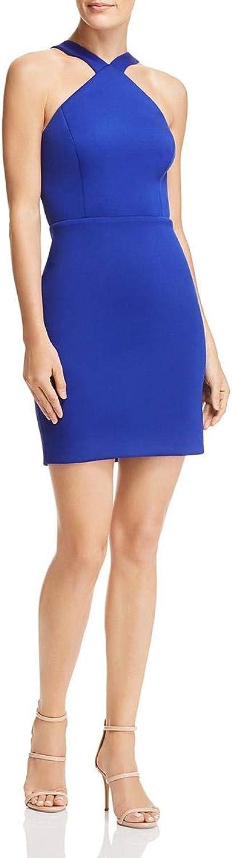 Aidan Mattox Aidan Womens Sleeveless CutOut Back Cocktail Dress