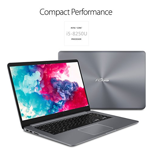 ASUS VivoBook F510UA 15.6 Full HD Nanoedge Laptop, Intel Core i5-8250U Processor, 8GB DDR4 RAM, 1TB HDD, USB-C, Fingerprint, Windows 10 Home - F510UA-AH51, Star Gray