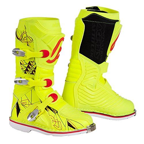 Acerbis - Botas Shark para niño, color amarillo neón/negro, talla 35 35 Giallo fluo/Nero