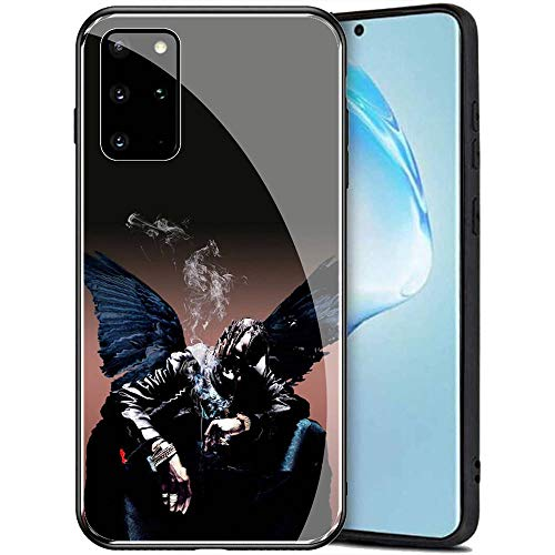 Samsung Galaxy A71 Case, Tempered Glass Back Cover Soft Silicone Bumper Compatible with Samsung Galaxy A71 AMB-2 Astroworld Travis Scott