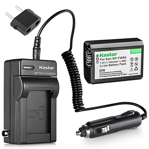 Kastar NP-FW50 Battery(1-Pack) and Charger for Sony BC-VW1 BC-TRW and Alpha 7 a7 a7R a3000 a5000 a6000 NEX-3 3N NEX-5 5N 5R 5T NEX-6 NEX-7 NEX-C3 NEX-F3 SLT-A33 A35 A37 A55V DSC-RX10 Camera