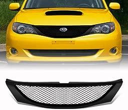 VioGi Fit 08-10 Subaru Impreza WRX Sedan/Hatchback (Wagon) 08-11 Impreza Sedan/Hatchback (Wagon) 1pc Black Coated Finish ABS Plastic JDM Sport Mesh Style Badgeless Front Grille