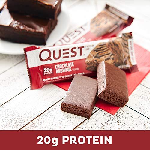 クエストニュートリション(QuestNutrition)プロテインバーチョコレートブラウニー(60gx12本)