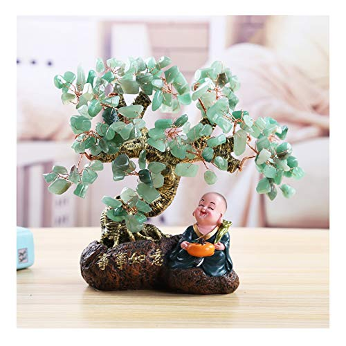 zxb-shop Luck and Wealth Crystal Tree Natural Reiki Healing Crystals Money Tree Gem Tree Feng Shui Good Luck Wealth Figurine Decor for Home Office Living Room Decoration Bonsai Feng Shui Money Tree