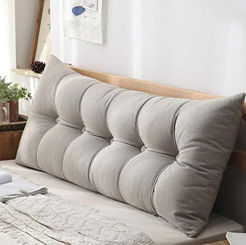 Rugleuning voor bed, rugkussens voor lounge kussens van de bank -Of range meubels in 8 trendy kleuren,Gray,100X60X20cm