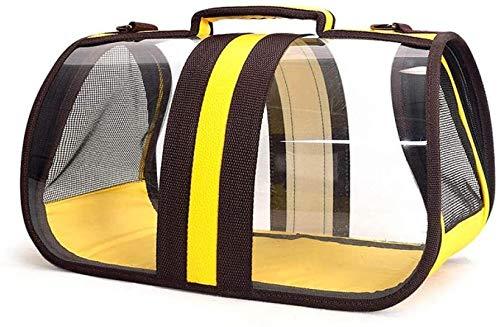YYhkeby Travel Hundetragetaschen Welpen-Katze-Tragen im Freien Beutel Kleintiere tragbare Handtasche weiche Hundehütte Produkte Transparenter Beutel-Blau 37X21.5X21.5CM, Gelb, 43X23X24.5CM Jialele