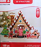 Christmas Gingerbread house with Characters Craft 3D Foam Kit 189 Pieces