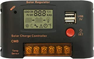 Joick LCD Solar Charging Controller Panel Battery Regulator Auto Switch Overload Protection 12V/24V,10A