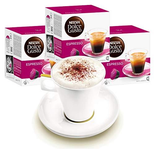 Nescafé DOLCE GUSTO Tassen Geschenkset, 3 Packungen mit Becher Espresso, Kaffee, Kaffeekapsel, Kapseln