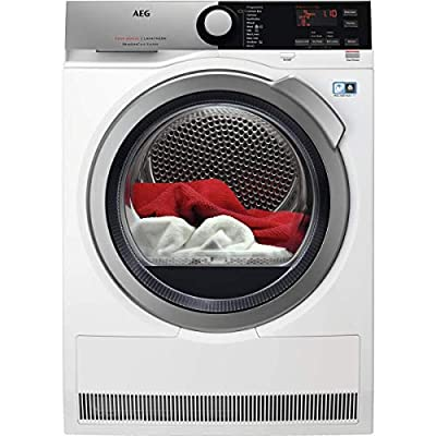 AEG T8DEE945R Freestanding Heat Pump Tumble Dryer with Absolutecare Technology, 9kg Load, White