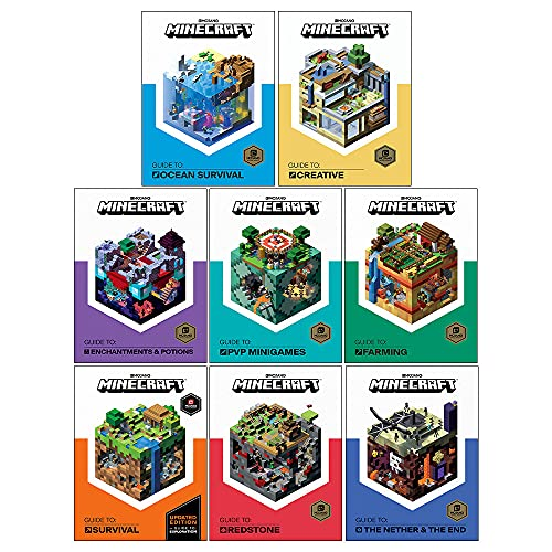 The Minecraft Collection 8 Books Box Set (Minecraft Guides) (Creative, Survival, Redstone, Nether & The End, Enhancements & Potions, PVP Minigames, Farming & Ocean Survival)
