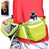[Voted No.1 Hydration Belt] Electric Lime Winners' Running Fuel Belt - Includes Accessories: 2 BPA Free Water Bottles &...