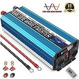 SUDOKEJI Inversor de Corriente Onda Sinusoidal Pura 2000w y Pico de 4000w Convertidor 12v 220v con Pantalla LCD para Refrigeradores Pequeños y Aparatos de Carga Inductiva de Baja Potencia