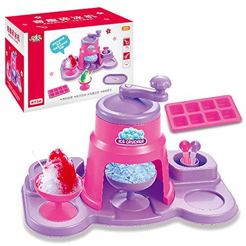 ZXYWW Kinder-Eismaschine Eismaschine Spielzeug, Simulation Home Ice Cream Kleingerät Set Spielzeug, Spaß & Engagement Spielzeug, Eismaschine Maschine für Kinder
