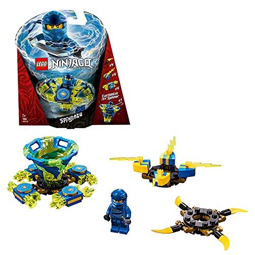 LEGO Ninjago - Spinjitzu Jay, peonza azul y amarilla divertida de ninja de juguete (70660)