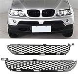 Auto Accesorios for el coche Un Par De frontal inferior del parachoques Rejillas Set Fit for BMW X5 E53 2003-2006 coche delanteras izquierda y derecha la luz de niebla parachoques Parachoques delanter