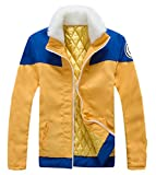GK-O Uzumaki Cosplay Costume Thick Jacket Hoodie (Asian Size Small) Yellow Blue