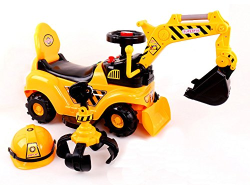 RICCO® 2 in 1 Ride On Toy Digger...