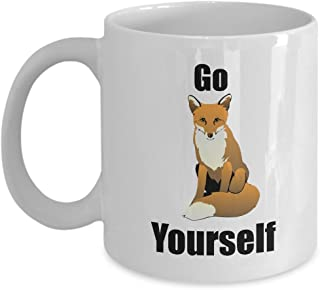 F-Bomb Mug Fox Go F Yourself | Inappropriate Gifts | Coffee Tea Or Espresso Novelty Gift Ideas