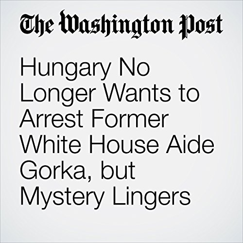 Hungary No Longer Wants to Arrest Former White House Aide Gorka, but Mystery Lingers copertina