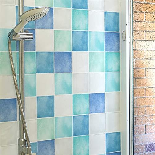 Etiqueta engomada de la pared del papel pintado Cuarto de baño WC etiquetas a prueba de agua pegatinas de pared de cocina decoración del papel pintado del PVC auto-adhesivo del papel pintado Azulejos