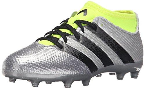adidas Performance Ace 16.3 Primemesh FG/AG J Calzado de fútbol (niños pequeños/niños grandes), plateado (Silver Metallic/Black/Electricity), 21