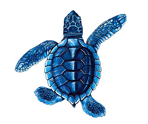 Baby Turtle Porcelain (Style B) Swimming Pool Mosaic (Style B - 5' x 5', Blue)