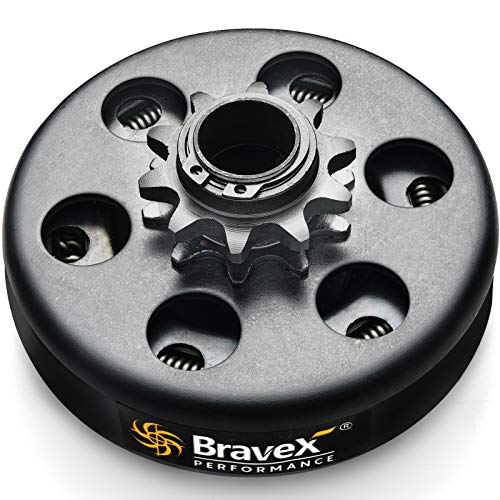 """Bravex Centrifugal Go Kart Clutch 3/4"""" Bore 10 Tooth 10T For #40/41/420 Chain 6.5HP - Upgrade …"""