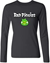 IIOPLO Women's Bad Piggies Games Long Sleeve T-shirt