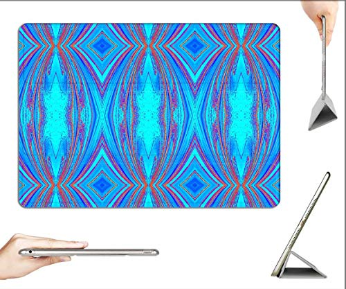 Case for iPad Pro 12.9 inch 2020 & 2018 - Texture Blue Aqua Burgundy Design Abstract