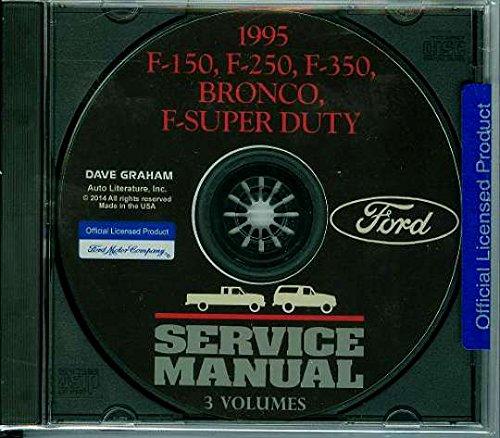 1995 Ford Truck Repair Shop & Service Manual CD for F150 F250 F350 Pickup Super Duty Bronco etc
