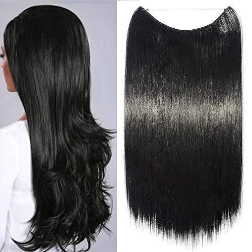 TESS Haarteil Extensions 1 Tresse Haarverlängerung Synthetische Haare Haarverdichtung 24