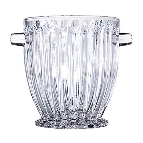 Portaghiaccio e Pinze Per Ghiaccio Elegante secchiello for il ghiaccio in cristallo con manici, secchiello for vino, secchiello in vetro, sicuro e perfetto for la tua barra di casa Secchiello Refriger