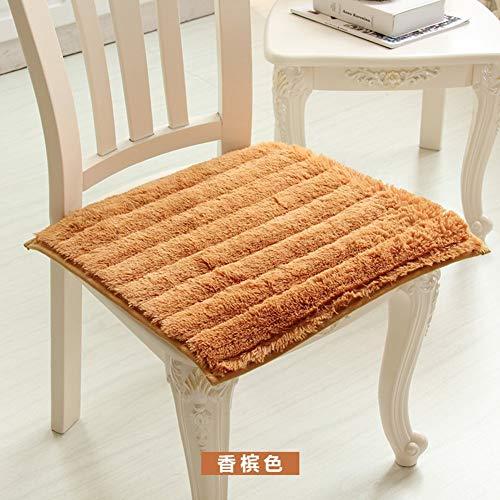 YLCJ kussenhoes, voor bureaustoel, velours, koraal gecoat, Europese stof, 4 seizoenen I 40 x 45 cm