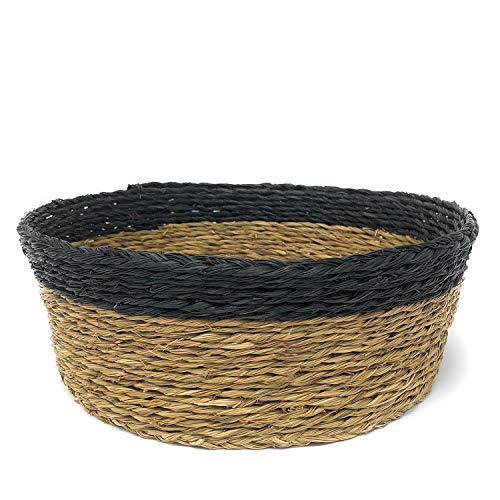 African Fair Trade Handwoven 8-inch Bread Basket, Black