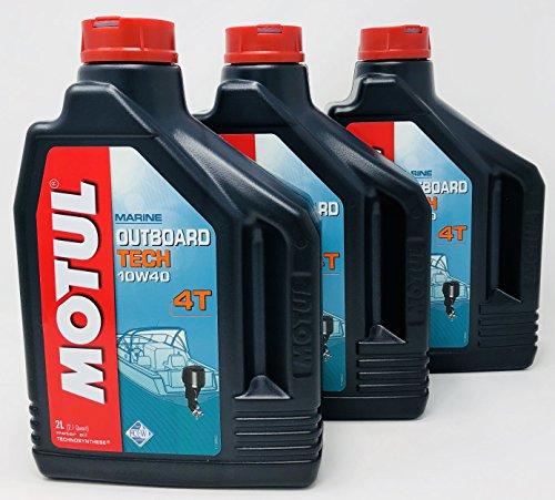 Motul smeerolie voor Hors-Bord Marine Hors-Board Tech 4T 10W-40, 6 liter (3 x 2 l)