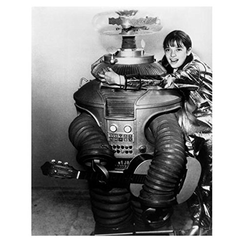 Lost in Space (1965) 8 x 10 Photo Angela Cartwright Hugging Robot kn