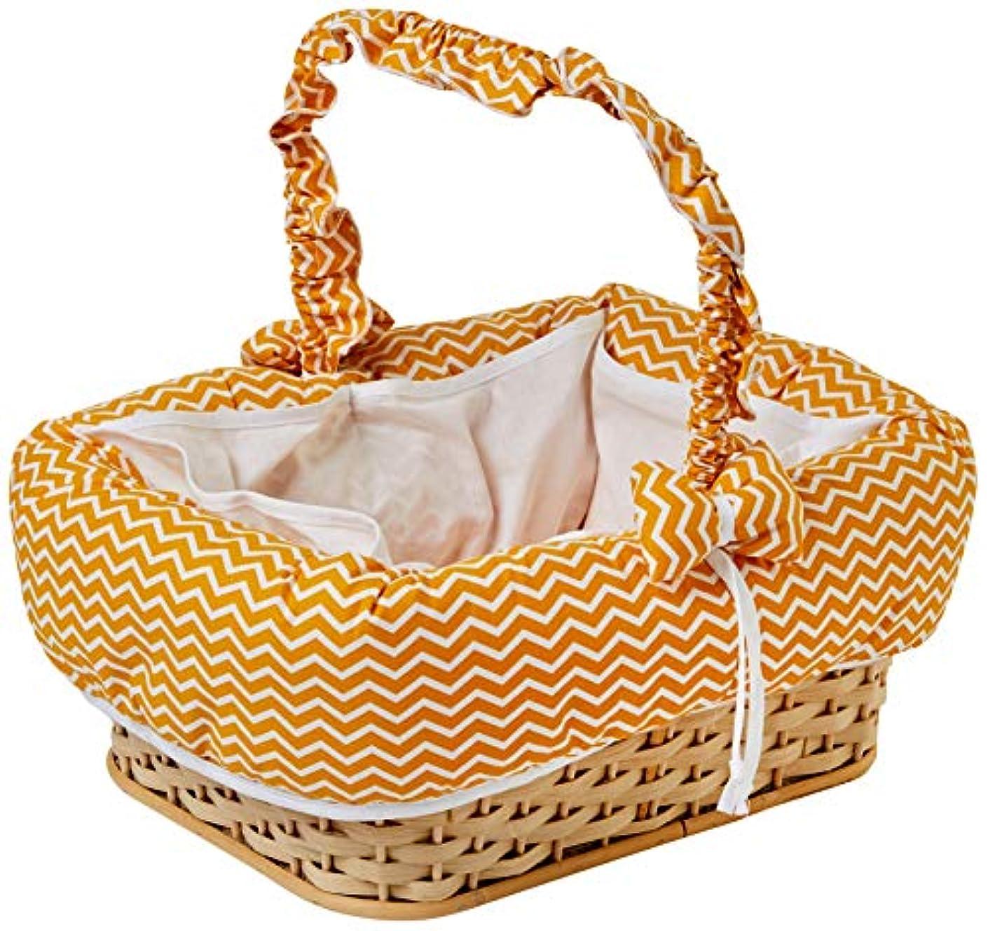 Italbaby Zigzag Rectangular Beauty Basket, Saffron/Natural, Multi-Color, One Size