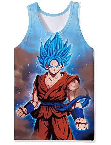 Cooleader Goku T-Shirt Men 3D Print Anime Short Sleeve Breathable Dragonball z Tank Top