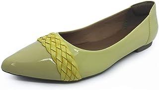 Sapatilha CS Shoes Bico Fino Trancinha Amarela