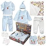 Sets de Regalos para Recin Nacidos Baby Ropa de Equipo Inicial de Regalo para Bao con 10 piezas para...