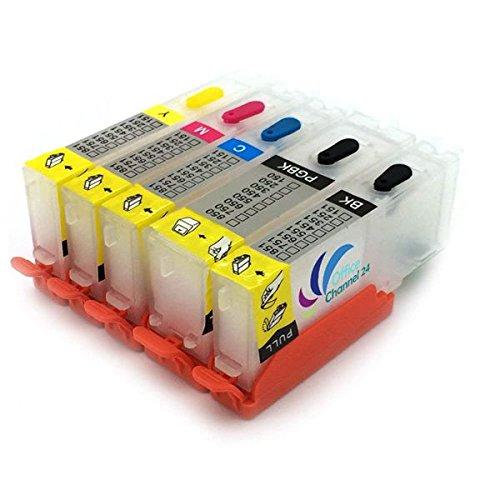 Office Channel24 - Befüllbare Druckerpatronen kompatibel für PGI570XL CLI571XL inklusive Auto Reset Chip