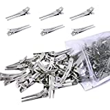 100 Pack Hairdressing Double Prong Curl Clips,DanziX...