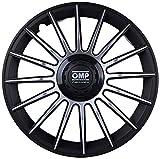 OMP OMP1310 Tapacubos Formula, Negro/Plata, Set de 4, 13'