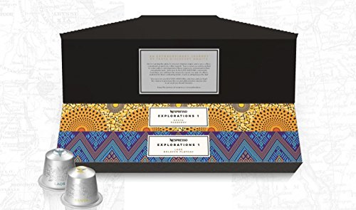 Nespresso Kapseln Limited Explorations Set: Laos Bolaven Plateau und Kenya Peaberry (2 x 10 Nespressokapseln)